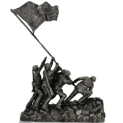 Buy 1 Kilo Antique Finish Iwo Jima Silver Statues Silver Com