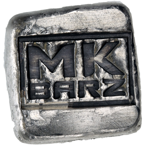 Buy 1 Oz Mk Barz Hand Poured Antique Logo Silver Bars