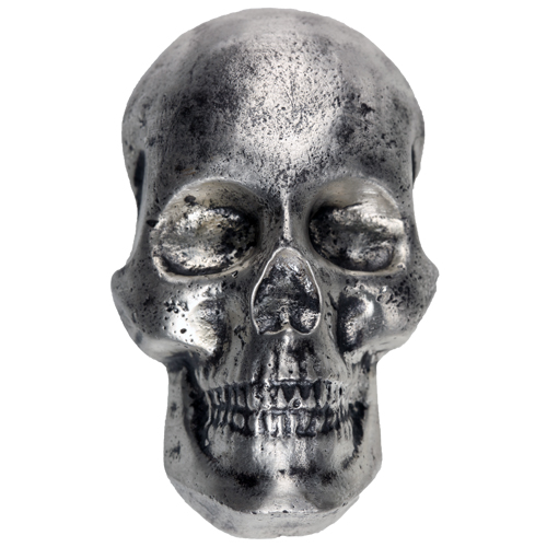 Buy 10 Oz Mk Barz Hand Poured Silver Skulls Silver Com