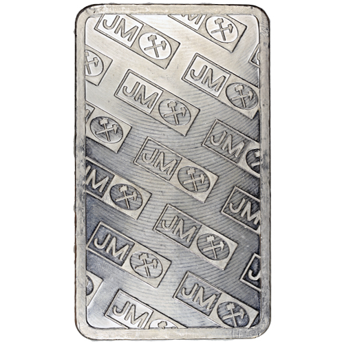 Buy 100 Oz Pressed Johnson Matthey Silver Bullion Bars