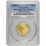 2008-W-1-4-oz-Burnished-Coin-PCGS-SP70