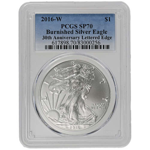 Buy 2016 W Burnished Silver Eagles Pcgs Sp70 Silver Com