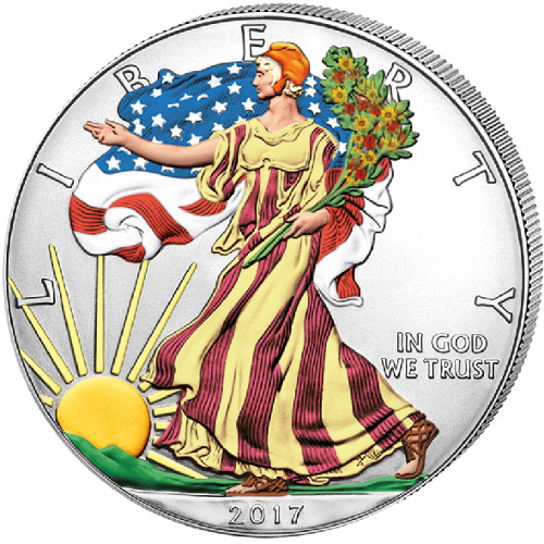 Buy 2017 Colorized Silver American Eagle Bullion Coins
