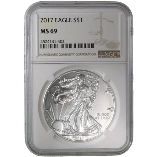Buy 2017 Silver American Eagle Bullion Coins Ngc Ms69