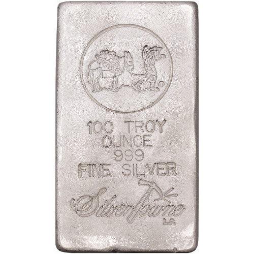 Buy 100 Oz Silvertowne Poured Silver Bars Silver Com
