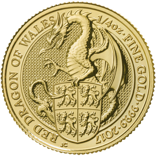 Buy 2017 1 4 Oz Gold British Queen S Beast Dragon Coins