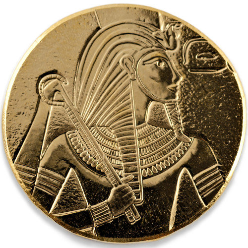 2017 1 Oz Gold Republic Of Chad Egyptian King Tut Coins
