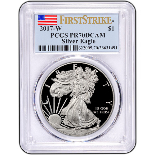 Buy 2017 Proof Silver American Eagle Coins Pcgs Pr70 Fs