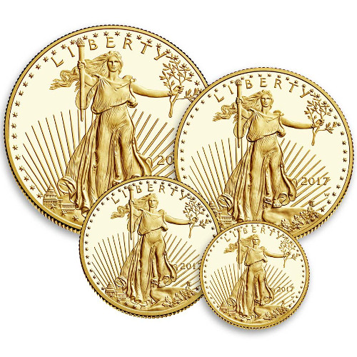 Buy 2017 W 4 Coin Proof American Gold Eagle Sets Silver Com