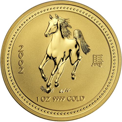 Buy 2002 1 Oz Gold Australian Horse Coins 9999 Bu