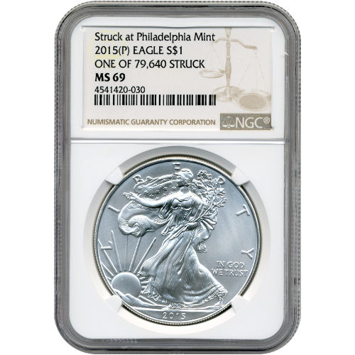 Buy 2015 P 1 Oz Silver American Eagle Coin Ngc Ms69