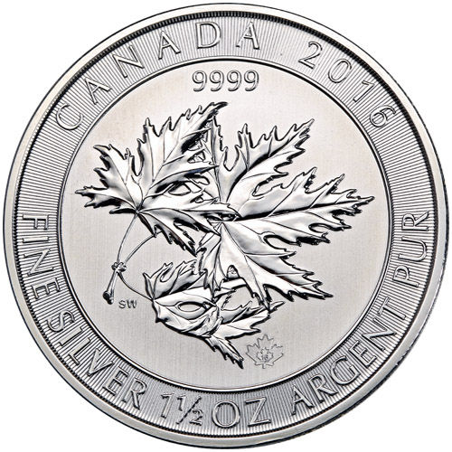 Buy 2016 1 5 Oz Canadian Silver Superleaf Coins Silver Com