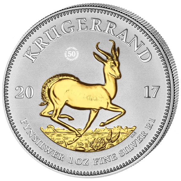 2017 South African Krugerrand 50th Anniversary 3 Coin Set
