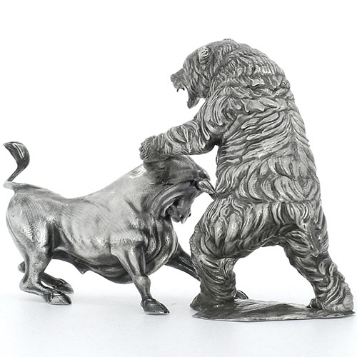 Buy 8 Oz Antique Finish Troy The Bull Silver Statue