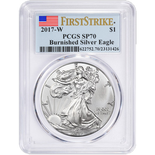 2017 W silver eagle burnished sp70