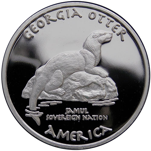 2017 1 Oz Proof Silver Georgia Cherokee Otter Coin