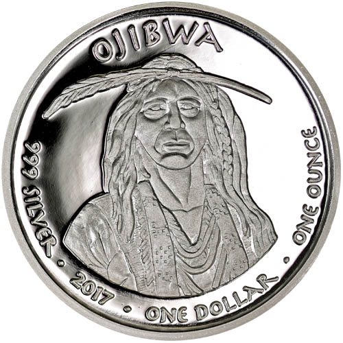 2017 1 Oz Proof Michigan Ojibwa Swan Silver Coins Silver Com