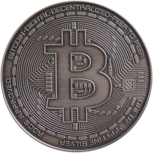 Buy 1 Oz Antique Silver Bitcoin Commemorative Rounds