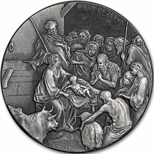 2016 2 Oz Silver The Birth Of Jesus Biblical Coins