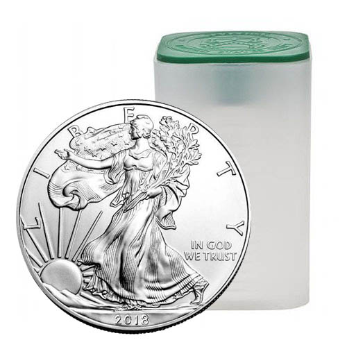 Buy 2018 Silver American Eagle Tubes 20 Coins Silver Com