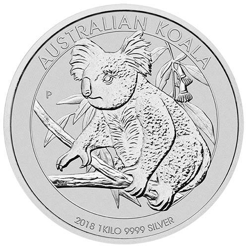 Buy 2018 1 Kilo Silver Australian Koalas 9999 Bu