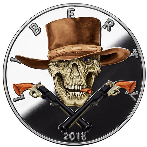 Buy 1 Oz Silver Colorized Proof American Western Skulls