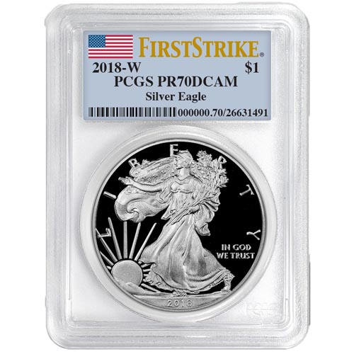 Buy 2018 Proof Silver American Eagle Coins Pcgs Pr70 Dcam