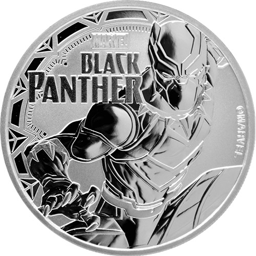2018 1 oz Silver Tuvalu Black Panther Marvel Series Coin - Silver.com 4993da843042