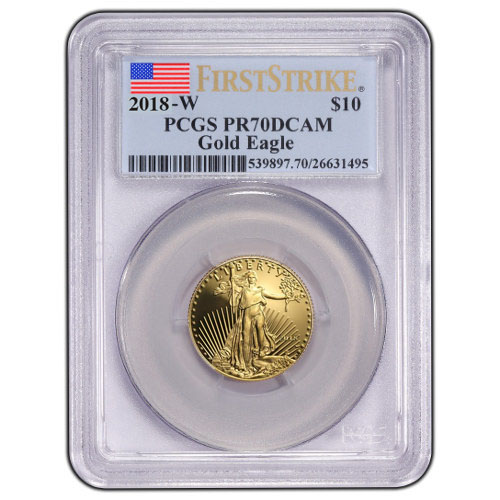 2018 W 1 4 Oz Proof Gold American Eagles Pcgs Pr70 Dcam