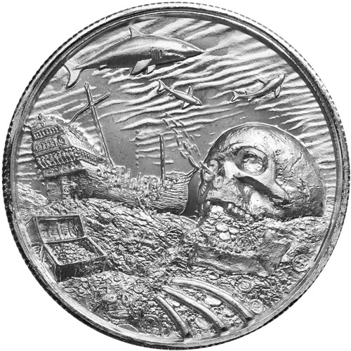 2 Oz Elemetal The White Whale Ultra High Relief Silver