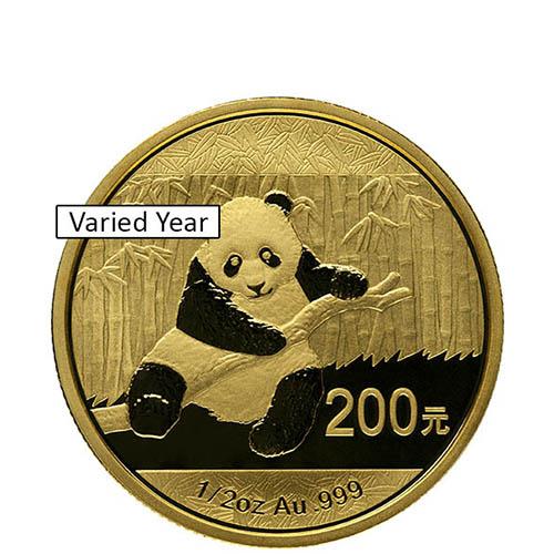 Random Year, Sealed China 1//20 oz Gold Panda BU