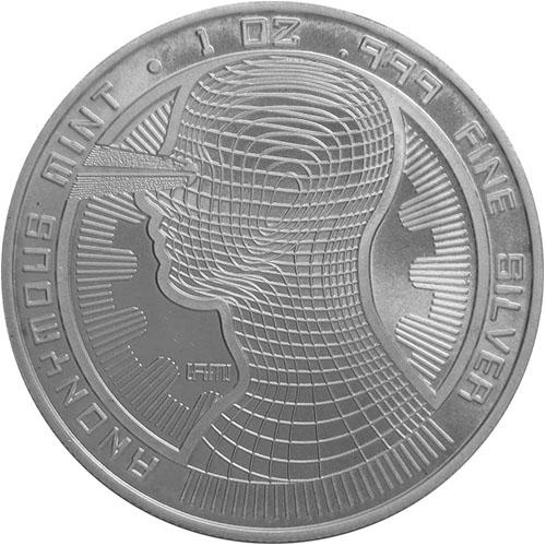 Bitcoin Guardian Commemorative 1 oz Silver Colorized Proof Round w//CoA