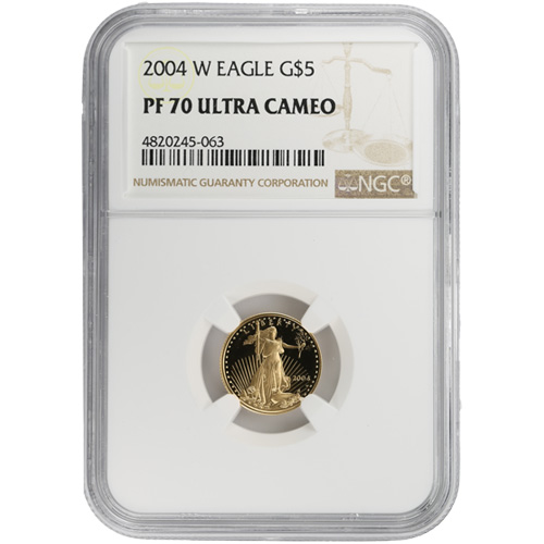 Buy 2004 W 1 10 Oz Gold Eagles Ngc Pf70 Ucam Silver Com