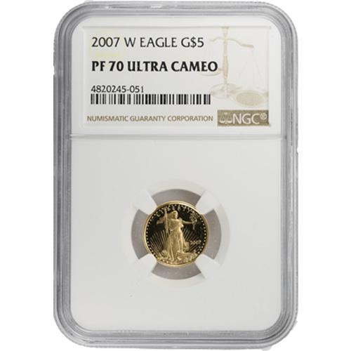 2007 W 1//10 oz $5 Proof Gold American Eagle NGC PF 70 UCAM