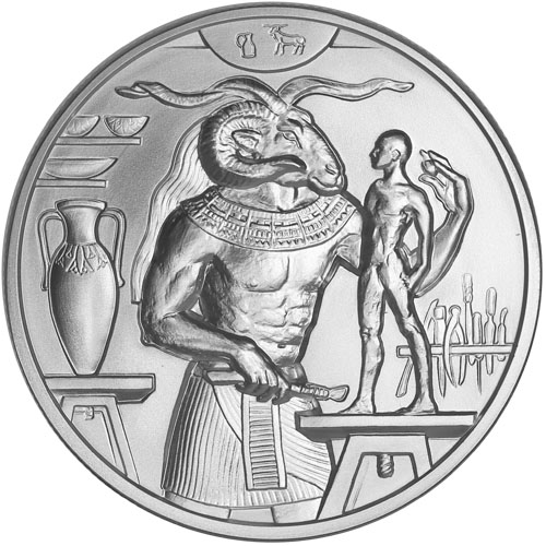 2 Oz Silver Khnum Rounds Egyptian Gods Series 4 New