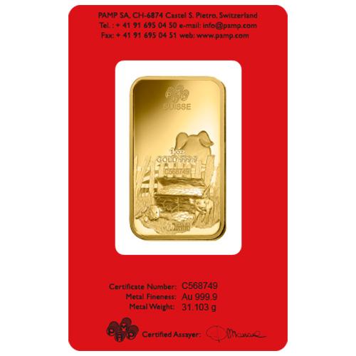 Buy 1 Oz Pamp Suisse Lunar Pig Gold Bars Silver Com