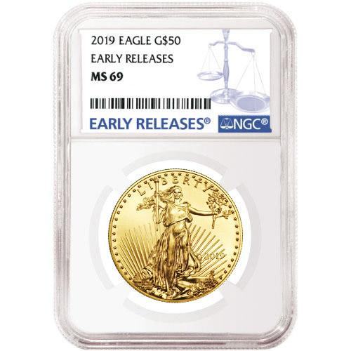 Buy 2019 1 oz Gold American Eagle Coins NGC MS69 ER ...
