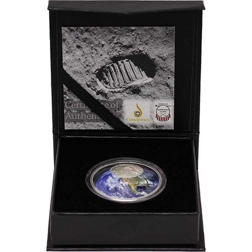 2019 1 Oz Proof Silver Moon Landing Curved Coins Silver Com