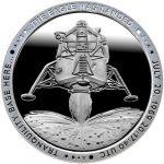 "JFK APOLLO 11 MOON LANDING /""ONE SMALL STEP/"" ARMSTRONG NASA 1OZ .999 SILVER ROUND"