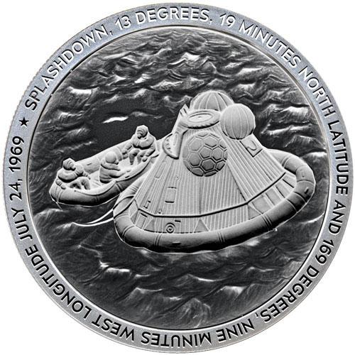 Buy 1 Oz Silver Apollo 11 Splash Down Rounds Silver Com