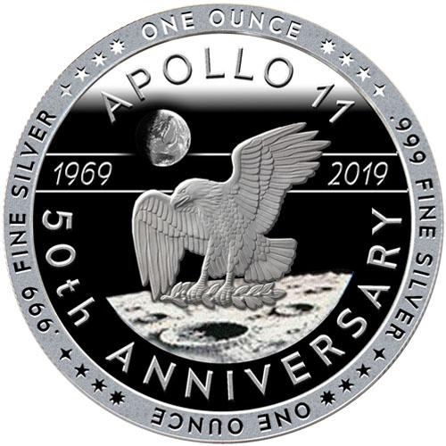 Apollo 11 The Crew 1 oz Silver round .999 Fine Proof-Like 4th in Series