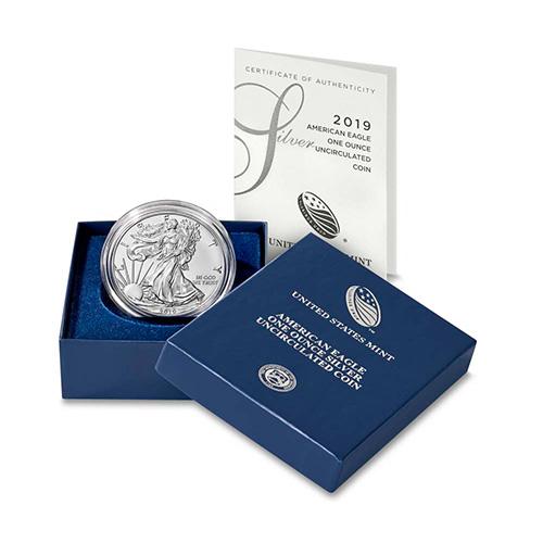 w//Box /& CoA 2015-W 1 oz Proof Silver American Eagle