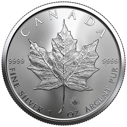 SKU#211387 Maple Leaves 2020 Canada 1//2 oz Silver $10 O/'Canada
