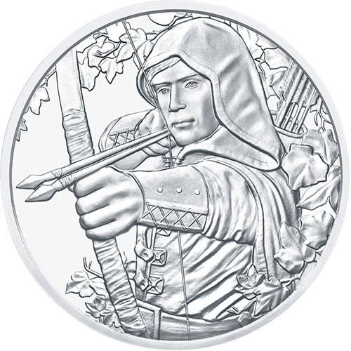 825th Anniversary of the Austrian 2019 1 oz Austrian Silver Robin Hood Coin BU