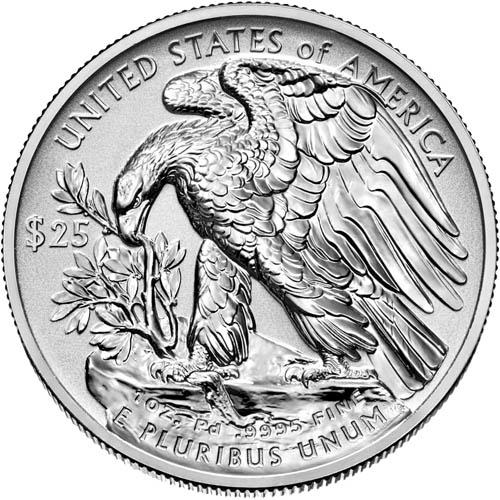 2019 W 1 Oz Reverse Proof Palladium American Eagle Coins