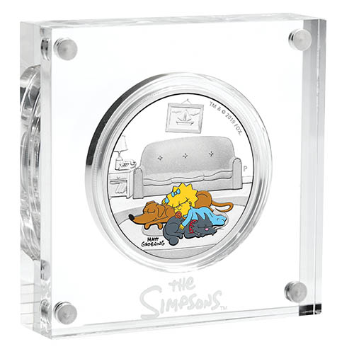 THE SIMPSONS-MAGGIE 1oz Silver Coin Proof Tuvalu 2019  first day of ssue