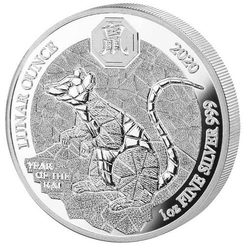 Wedding 2020 1oz Silver Proof Coin: 2020 1 Oz Proof Silver Rwandan Lunar Rat Coins (BU