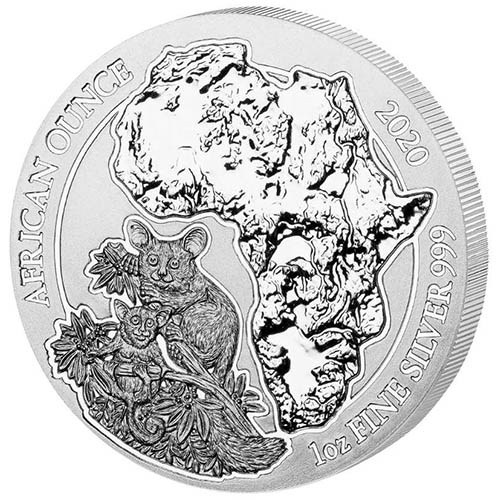 2020 Rwanda Lunar Year of the Rat BU coin .999 fine silver sealed